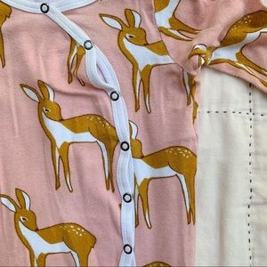 milk barn One Pieces - Dear little deer jammies, pink size 3-6m